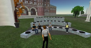 World University and School, Austin Hall on Harvard's virtual island, Aphilo Aarde