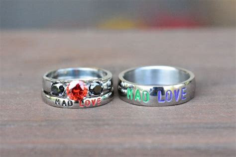harley  joker mad love rings comic inspired