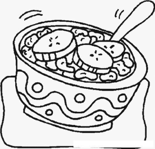 Colorear Cereal De Desayuno Colorear Comida Dibujo Para Pintar Y
