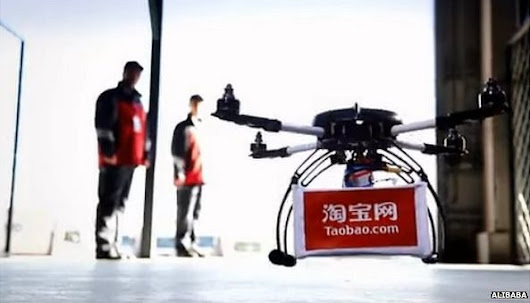 BBC News - Alibaba begins drone delivery trials in China