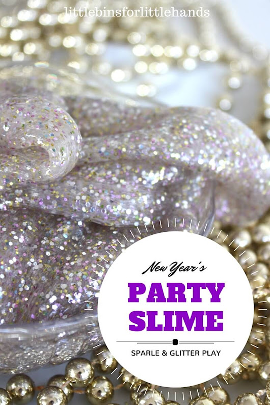 Party Slime Glittery New Years Eve Activity for Kids