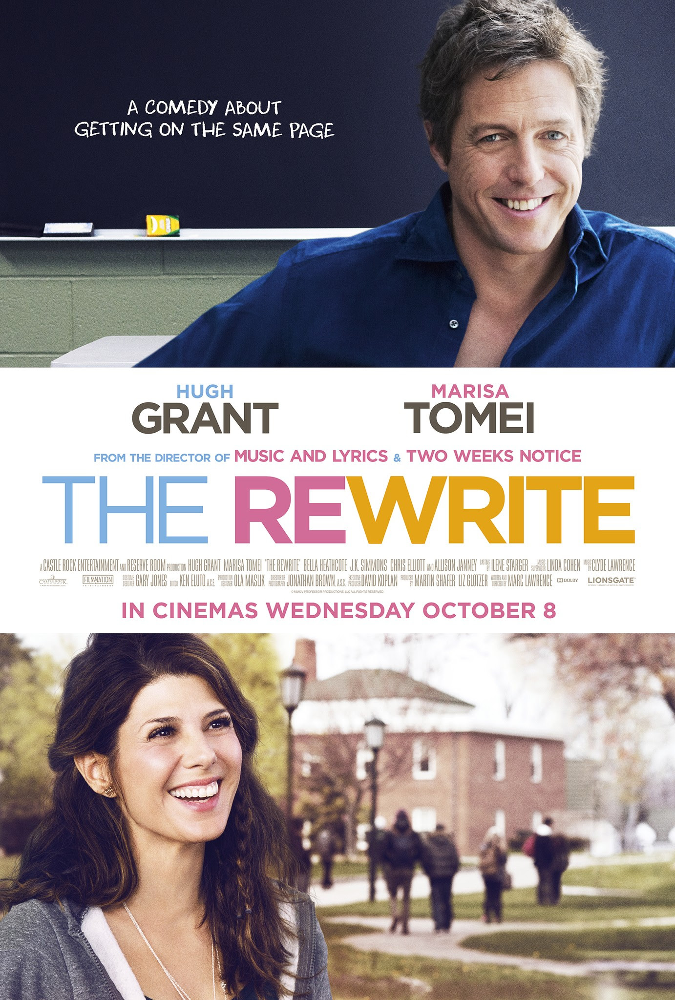 Mega Sized Movie Poster Image for The Rewrite