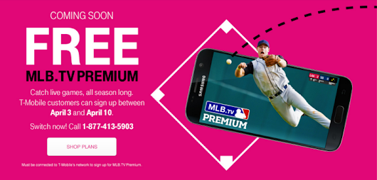 [Deal Alert] T-Mobile & MLB Up The Ante For T-Mobile Customers This Year With A Free Subscription To MLB.TV Premium For All Subscribers ($110 Value)