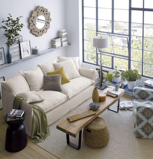 schmales wohnzimmer im klassischen stil eingerichtet