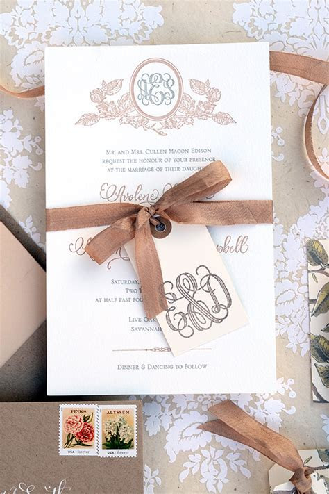 DIY Tutorial: Savannah Inspired Floral Wedding Invitations