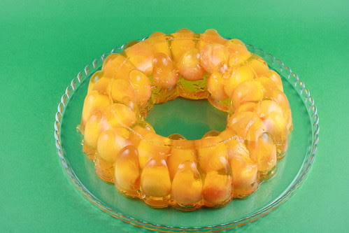 Cantaloupe and Pineapple Jello Bundt - I Like Big Bundts