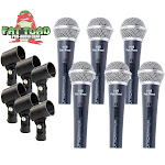 Cardioid Dynamic Vocal Microphones - Singing Handheld Recording Studio Mic Pack