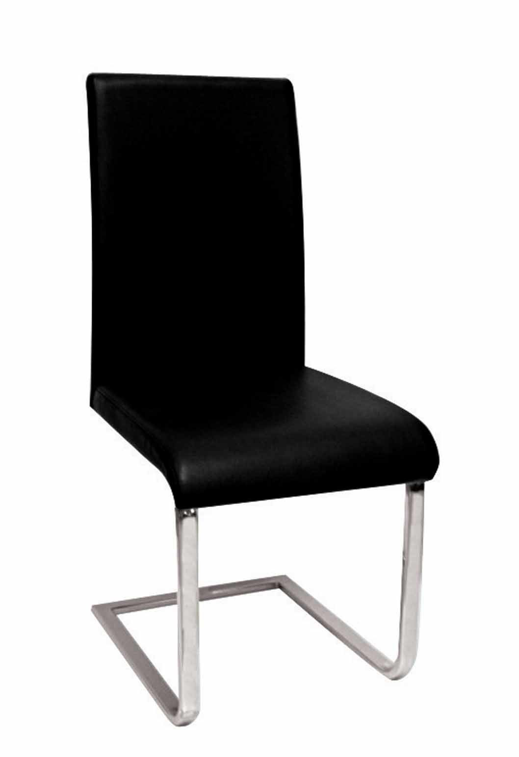 China Black Leather Chrome Chair (C199) - China Dining ...