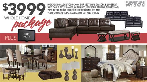 home packages furniture town