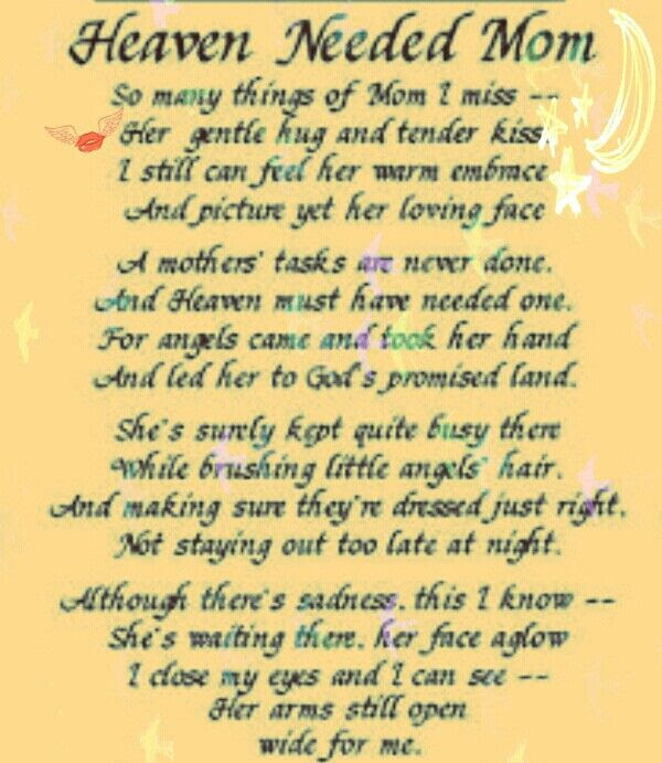 Imágenes De Mothers Day Quote For Moms In Heaven