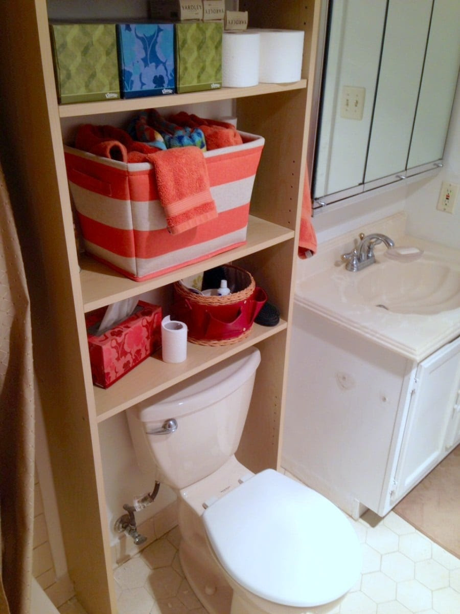 Squeeze In More Storage Over The Toilet With This Hack