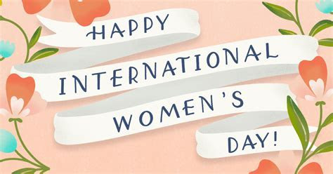"""International Women's Day 3/8""   March eCard   Blue"