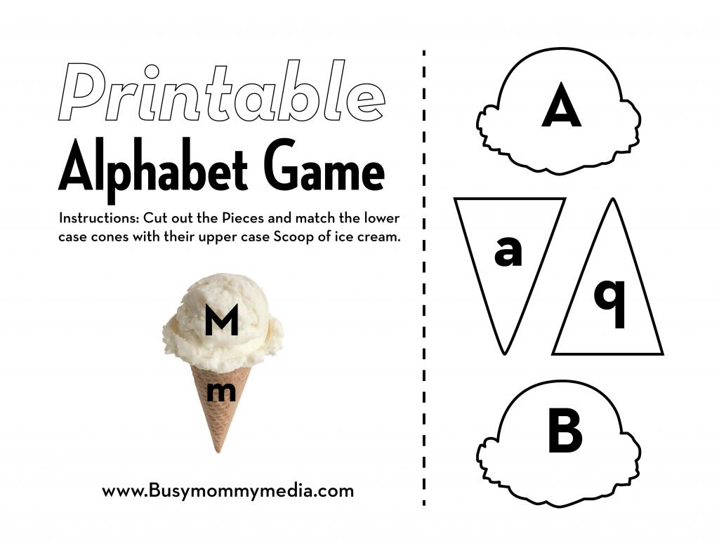Preschool Alphabet Matching Game - This ice-cream themed matching ...
