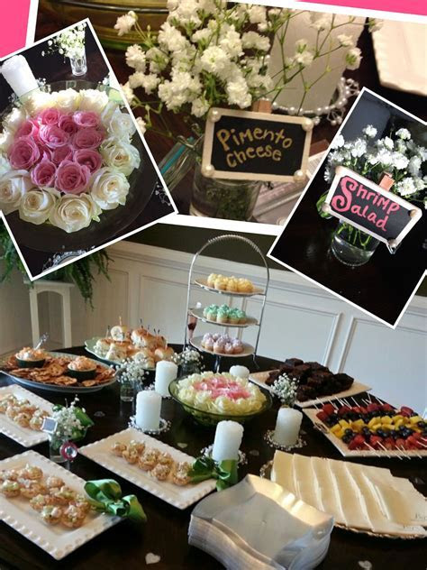 Food and appetizer table   Bridal shower   Pinterest
