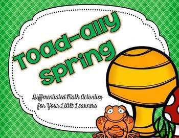 http://www.teacherspayteachers.com/Product/Toad-ally-Spring-1177217