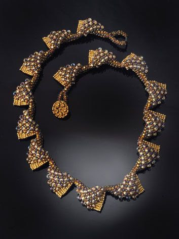 Amber Waves necklace, Jacqueline Johnson