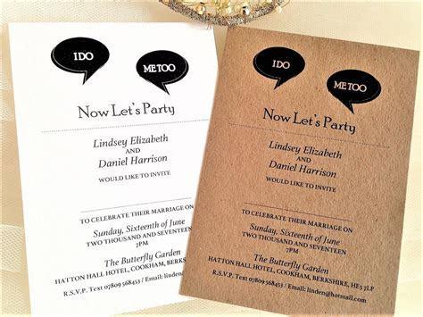 I Do, Me Too Wedding Invitations   Personalised Wedding