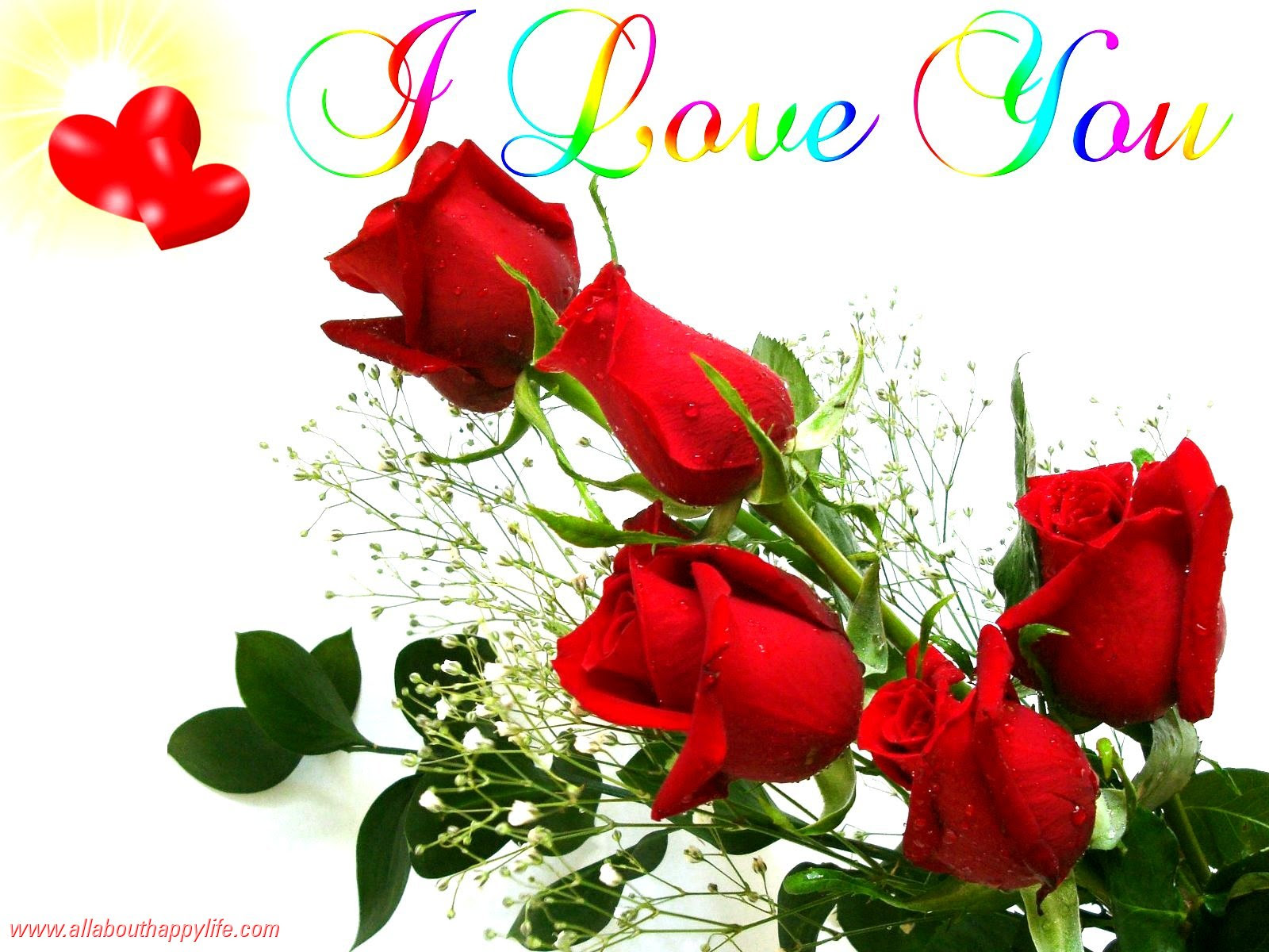 Knumathise Red Rose I Love You Wallpaper Images