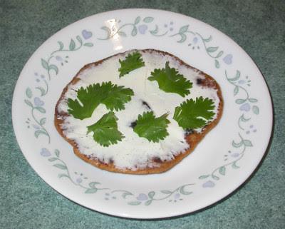 Cumin Rotis with Cream Cheese & Cilantro