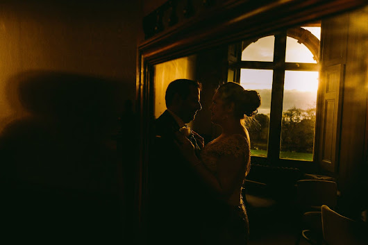 We both swiped right. Somerset winter wedding at Clevedon Hall