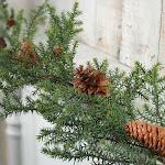 Artificial Cypress Pine Garland, 5 1/2' long, Green, Craft Supplies