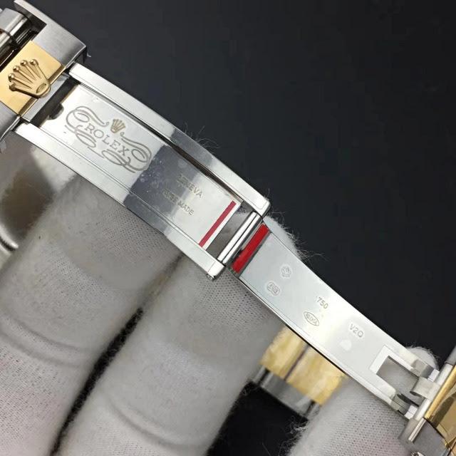 Replica Rolex Daytona Two Tone Black Dial 7