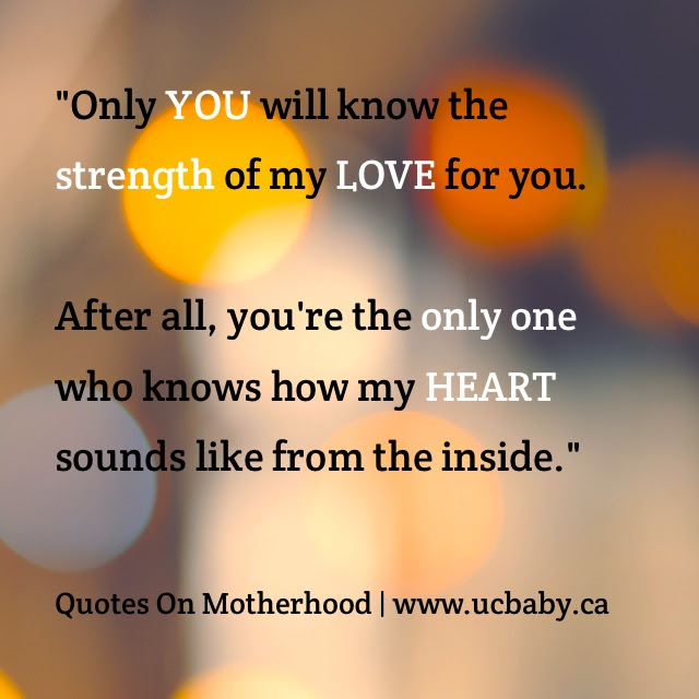 Thoughts On Motherhood The Strength Of My Love Uc Baby