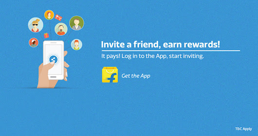 Download the flipkart mobile app and earn rewards!