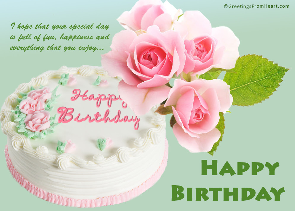 Happy Birthday Images Happy Birthday Wishes Images Flowers And Cakes