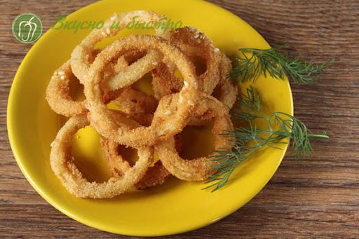 Луковые кольца в панировке - пошаговый рецепт с фото