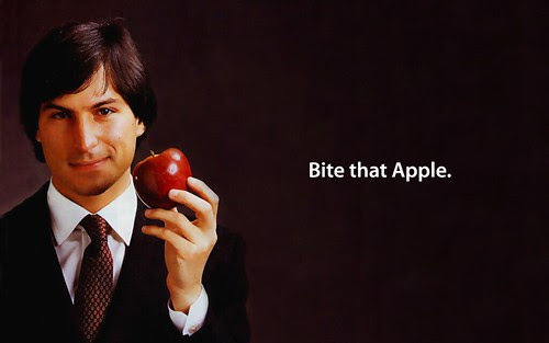 Bite That Apple Steve Jobs Desktop by Sigalakos.