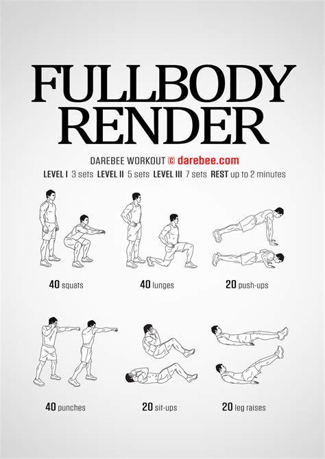 fullbody render workout