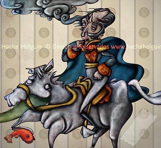 Simón Bolívar por Hache Holguín