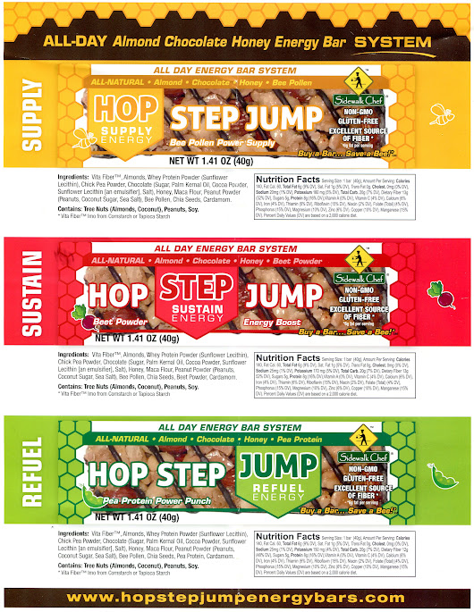 Review of the Hop Step Jump Energy Nutrition Bars