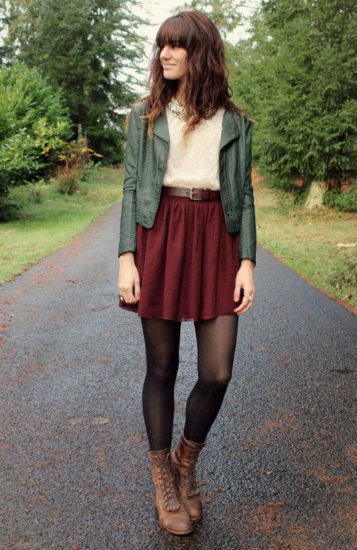 This is the perfect look for when your just out and strolling about, but also wanting to look fashionable, The tights are the perfect touch