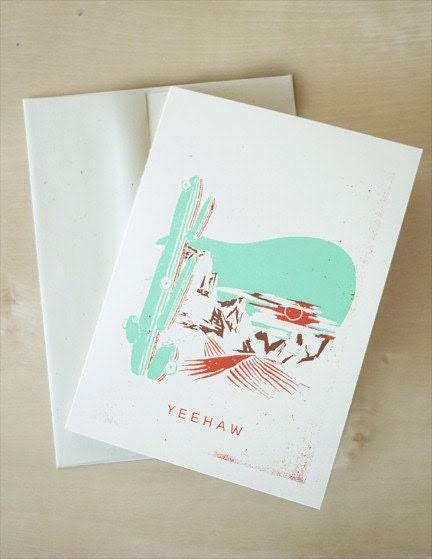 Yee-Haw Southwest Card - Blank Greeting Card - 4.5 x 6.25