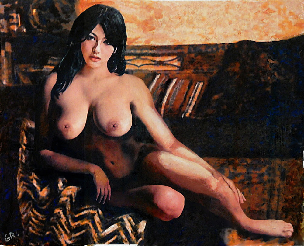 Original Female Nude Goddess Eirene II Seated. $18 to $24, medium-size prints, 16 x 12.5 inches, original $350. Free downloads, wallpaper. Fine art work nudes paintings figures figurative, #GrlFineArt. Fine art painting, female nude Goddess Eirene I, seated; a classical motif in a contemporary style. Art fineart nudes painting paintings prints ...
