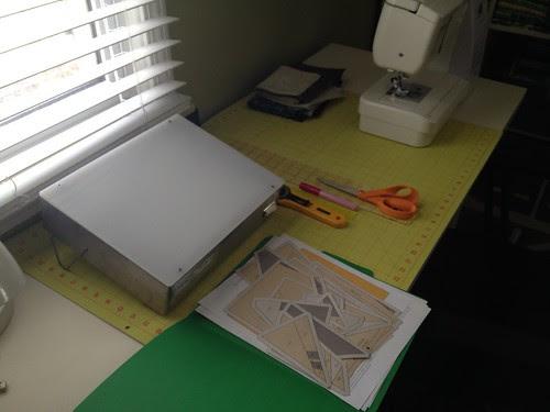 Paper piecing setup