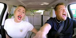 Miley Cyrus and Harry Styles Do Christmas Carpool Karaoke - Harry Styles Kisses James Corden on the Lip