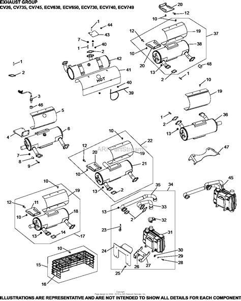 Kohler ECV650-3017 EXMARK 21 HP (15.7 kw) Parts Diagram