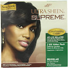 Ultra Sheen Supreme No-Lye Relaxer, Conditioning Creme, Regular for Fine/Normal Hair Texture - 2 applications