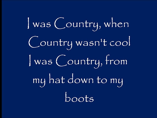 I Was Country When Country Wasn't Cool - Lyrics - Barbara Mandrell - YouTube