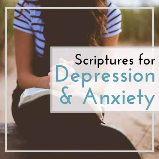 Living with Depression and Anxiety with Printable Scripture Cards- A Day In Candiland
