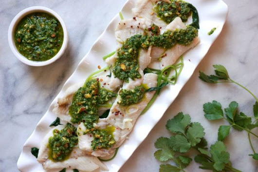 Project Body Smart |   RECIPE: Red Snapper with Roasted Almond Chimichurri