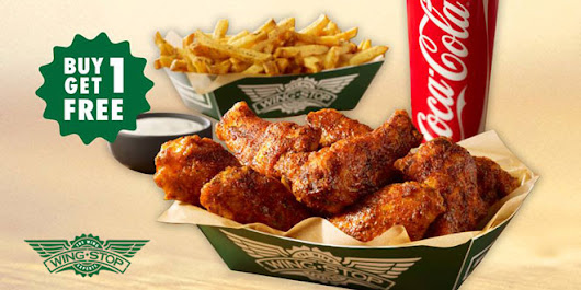 Wingstop Singapore: 1 for 1 6pc Hand-Breaded Wings Combo