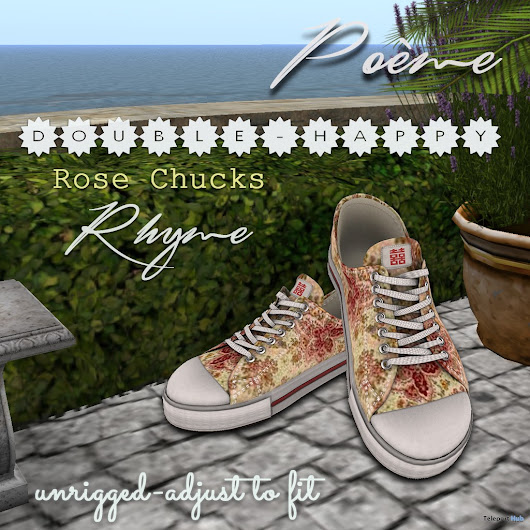 Double Happiness Rhyme Vintage Chucks June 2017 Group Gift by Poeme | Teleport Hub - Second Life Freebies