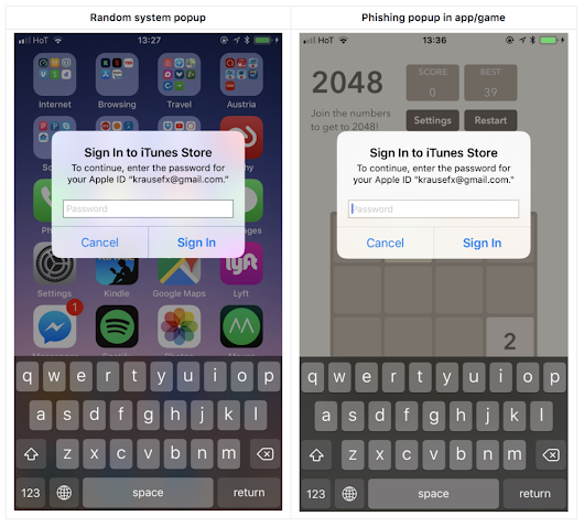 iOS Privacy: steal.password - Easily get the user's Apple ID password, just by asking