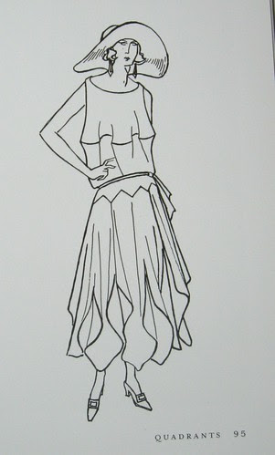 Drawing from Vionnet book