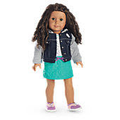 American Girl Cat Tee & Denim Jacket Outfit for Dolls