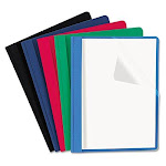 Universal 57119 Clear Front Report Cover, Tang Fasteners, Letter size, Assorted Colors, 25/Box